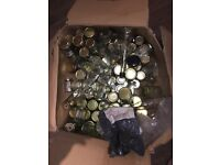 100 odd jars and bottles