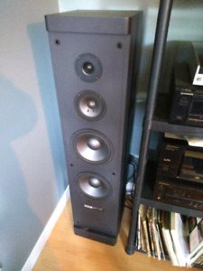 Large tower stereo speakers