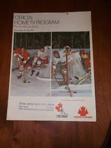 OFFICIAL HOME TV PROGRAM CAN / RUSS 1972
