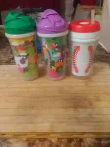 3 straw sippy cups Windsor Region Ontario image 1