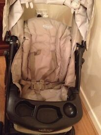 Graco Quattro Tour Deluxe Travel System pushchair, car seat, baby