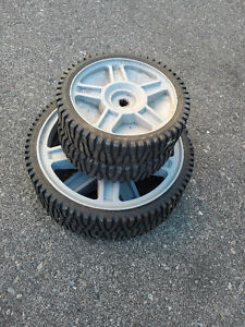 $45 for all four lawn mower wheels