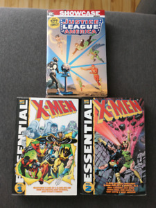 Justice League of America + Marvel Xmen Essentials volume 1 + 2