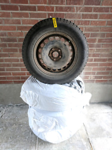 "16"" Nord Frost winter tires on rims, used only one season"