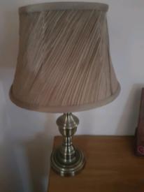 Gold lamp shade and base