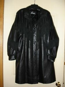 Black Leather and Suede Coat. - REDUCED SELLING PRICE