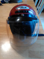Red CKX kids 4-Wheeler helmet size Youth S/M