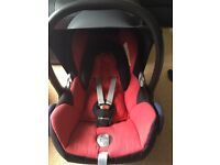 Red Maxi Cosi Carbrio fix car seat and base