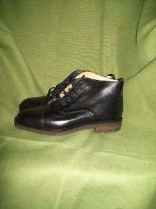 NEW BLACK LEATHER DESIGNER BOOTS ITALY SZ 5/6