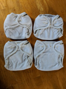 4 Mother Ease OS Bamboo Terry Fitted Diapers
