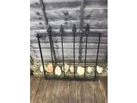 Cast Iron Garden Gate and Garden Wall Railings (Pre owned & Heavy)