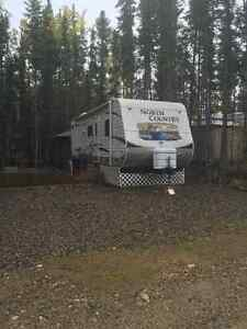 Trailer on leased lot