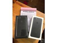 Iphone 7 256gb brandnew Jet Black 12 month Apple warranty