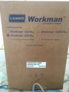 LB White Workman 225 Plus Construction Propane Heater, 225K