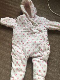 Mothercare 3-6 month snowsuit