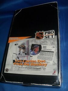 FRENCH cards .... 1991-92 PRO SET .... SERIES 1 ... unopened box