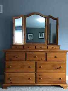 Pine Dresser and Night Stands