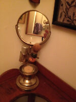 Miroir & Support A Rasoir * Antique * Shaving Stand With Mirror