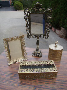 Vintage Mid Century / Hollywood Regency Gold Metal Items