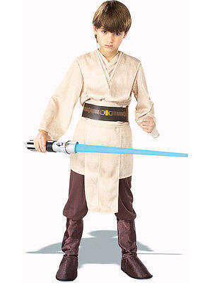 Boys Deluxe Jedi Knight Star Wars Fancy Dress Costume Child Outfit Skywalker (Star Wars Jedi Knight Kostüm)
