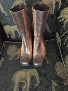 VINTAGE MID CALF BOOTS - LEATHER ALDO BRAND