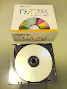 Blank DVD+RW Disks with Cases