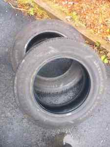 For Sale: Two 225 65R 17 Studded Goodyear Ultragrip Winter Tires St. John's Newfoundland image 1