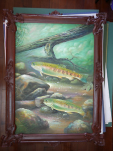 Hand Painted Paintings in Hand Carved Frames