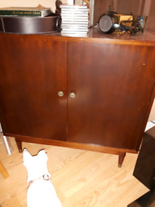 REDUCED AGAIN! Vintage Record storage Cabinet