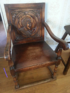 Beautiful Antique Chair with Ornate Carving