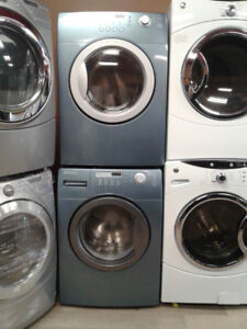 set washer/dryer Brada front load blue 27""