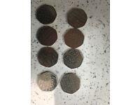 Rare 50p coins x8