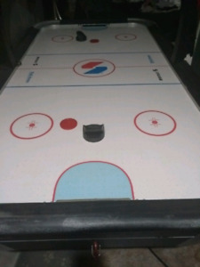 Full size air hockey table with scoreboard