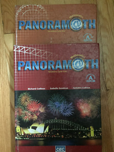 Panoramath Secondary Cycle 1, Student Book A, Volume 1 & 2