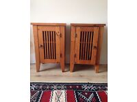 **Bargain**Stunning**Pair of Solid Wood Bedside / Side Tables