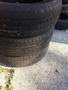 Like New Goodyear Wrangler SR-A P245/70 R17 Tires