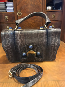 Fendi python bag with real lapis jems