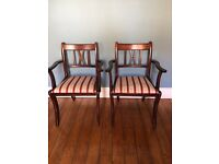 2x carver dining chairs