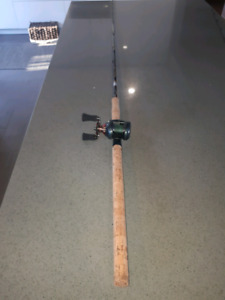 Muskie rod and reel
