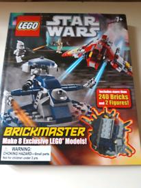 New Sealed Lego Star Wars DK Brickmaster Book Set.
