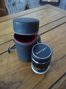 Vintage soligor telephote lens and case