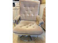 Comfy swivel chair.