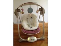 Chicco baby musical swinging chair