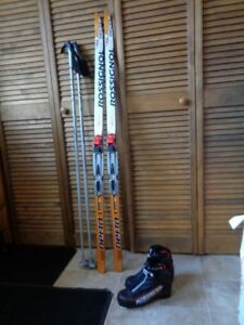 Rossignal cross country skis and boots