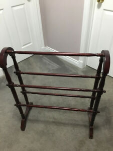 Antique Blanket rack/ Quilt stand