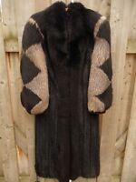 Black mink and fox fur coat - Manteau de vison et renard