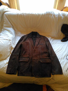Black Brown leather jacket,beautifully distressed leather