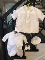Cheap Price! Baby Boy Raw Silk Christening Outfit & Accessories