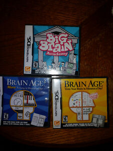 Nintendo DS Brain Age 1 & 2 and Big Brain Academy