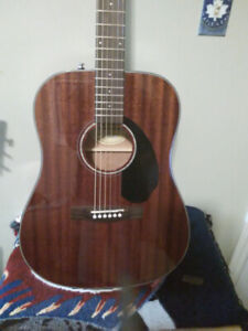 Fender solid top All mahogany acoustic guitar